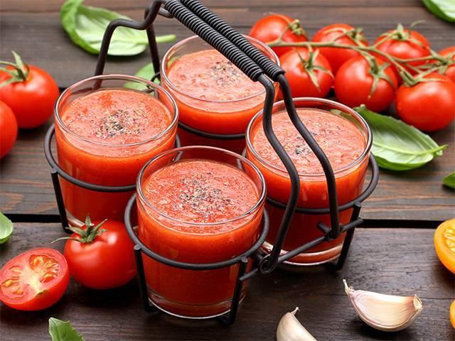 Сок томатный через соковыжималку на зиму: быстрые и простые рецепты