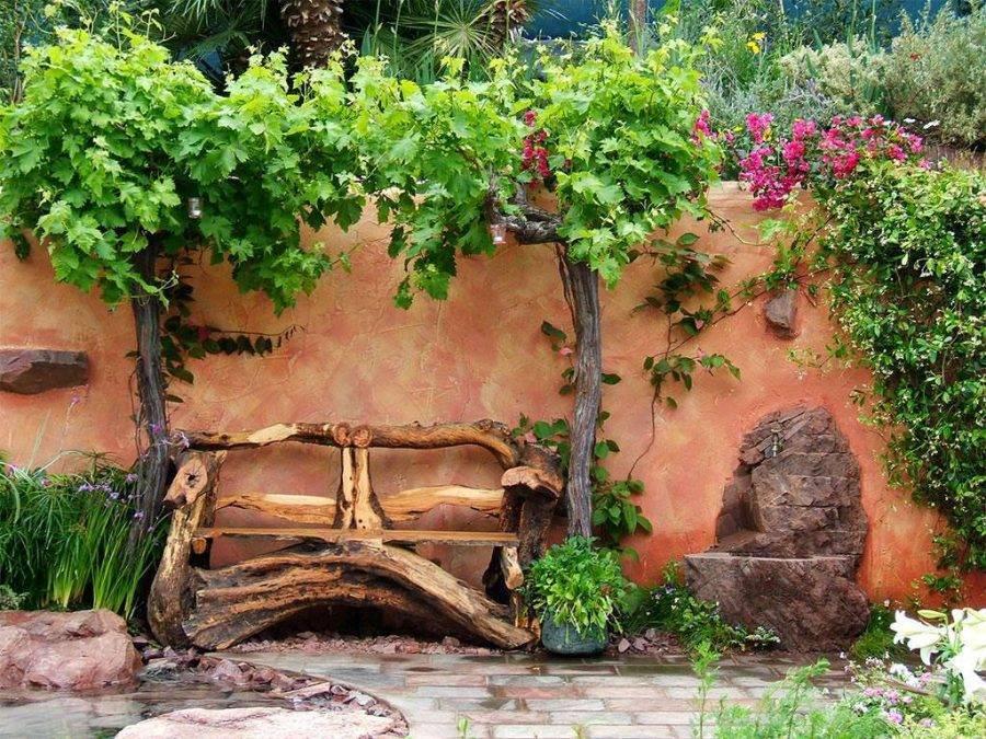 Ландшафтный дизайн сада в уютном стиле кантри (52 фото)