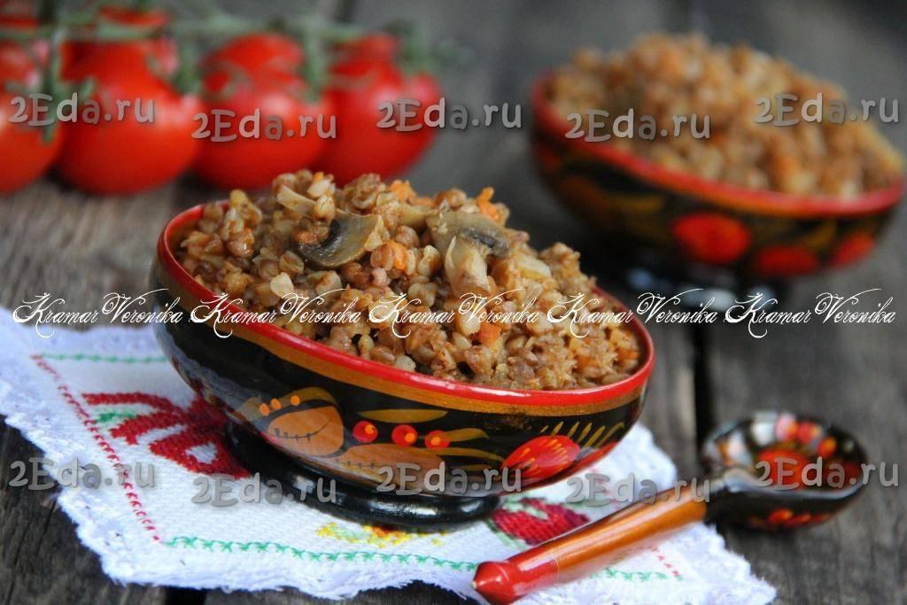 Суп с грибами и гречкой