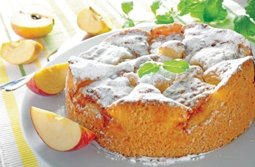 Пышная шарлотка с яблоками в духовке рецепт с фото пошагово + еще несколько вариантов приготовления