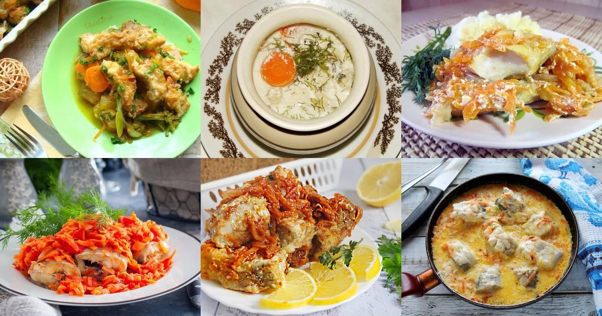 Рецепт тушеного минтая с луком и морковью на сковороде и в духовке