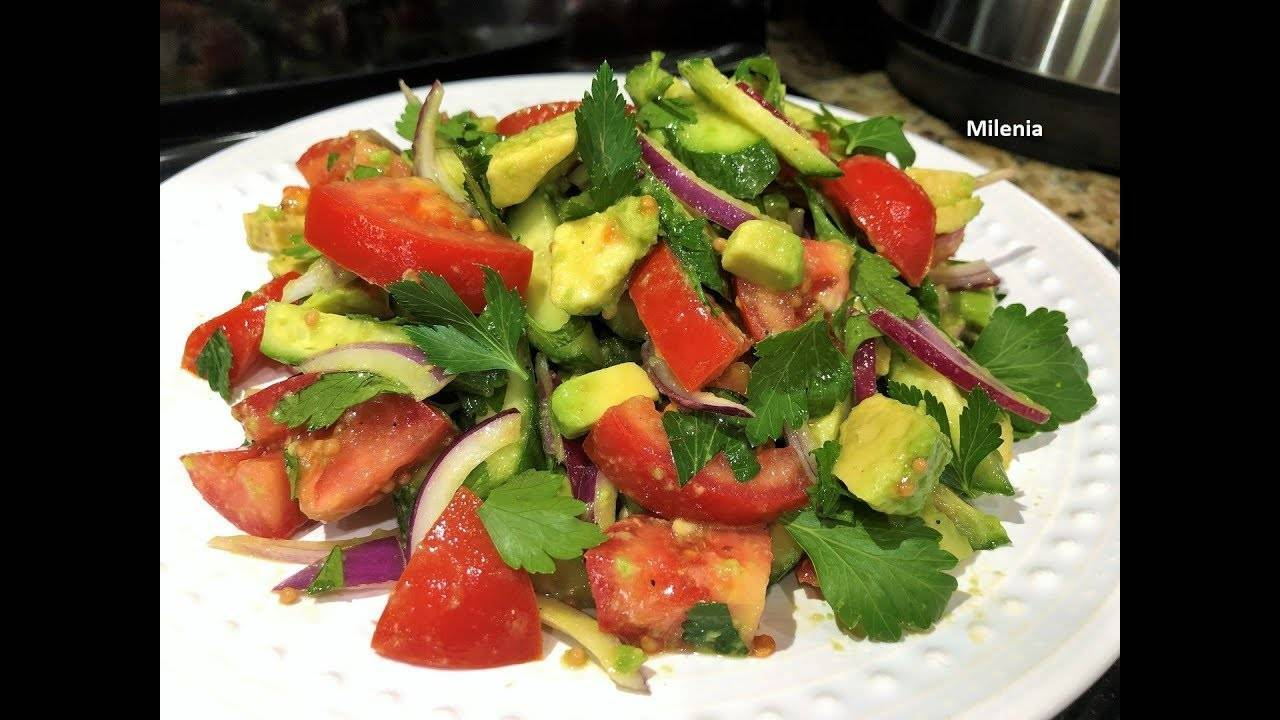 Салат с авокадо — рецепт с креветками, тунцом, огурцом, помидорами, креветками, видео