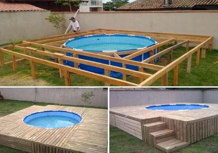 Каркасный бассейн на даче — как его установить самому: примеры с фото и видео