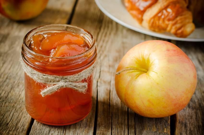 Прозрачное варенье из яблок дольками (янтарное)