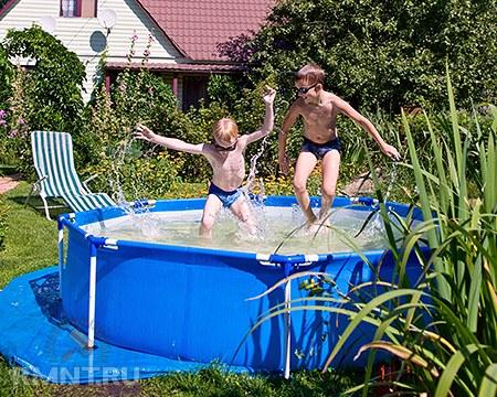 Как сделать каркасный бассейн на даче своими руками