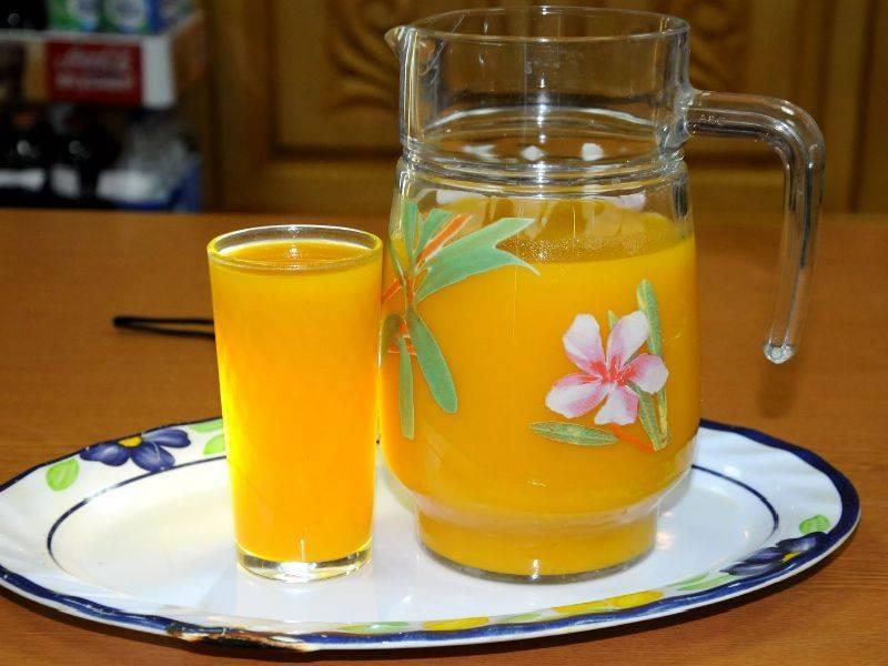 Тыквенный сок на зиму с апельсином