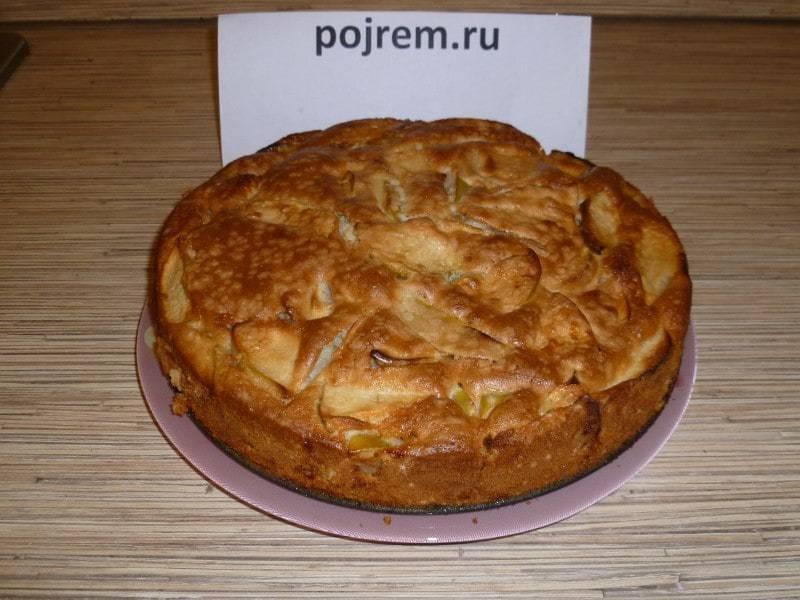 Шарлотка пышная с яблоками в духовке: пошаговый рецепт с фото