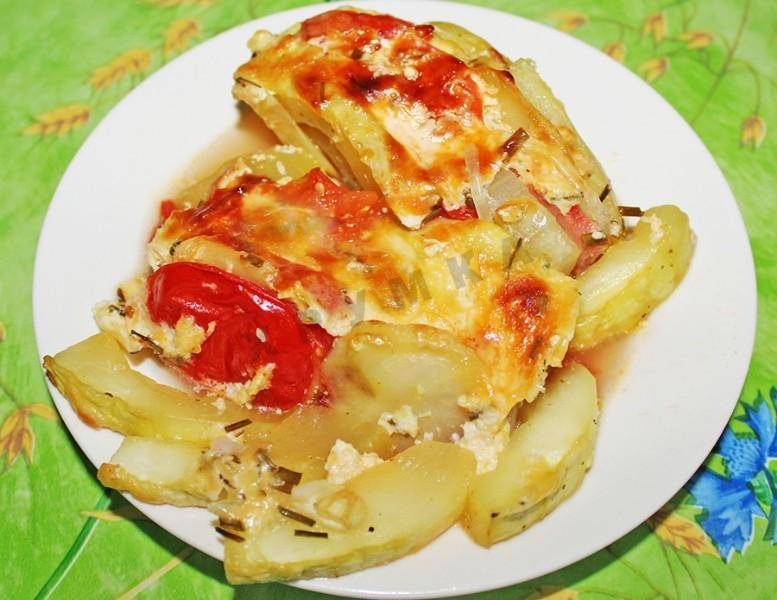 Запеканка из картошки и мясного фарша в духовке