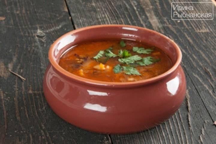 Фасолевый суп из красной фасоли