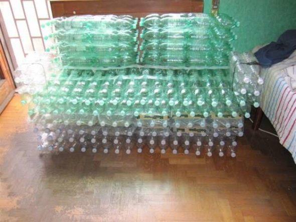 Как сделать своими руками стул из пластиковых бутылок для дома, лоджии или дачи