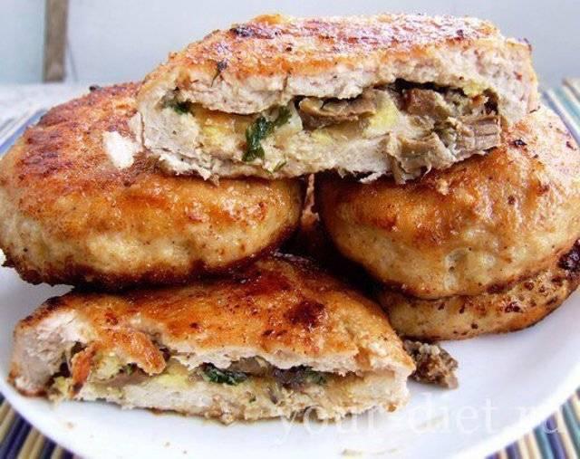 Вкусные мясные зразы с грибами, яйцом и луком: пошаговый рецепт с фото