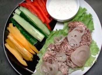 Картошка с курицей на противне запеченная в духовке