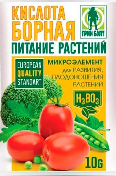 Как и зачем проводить опрыскивание томатов борной кислотой