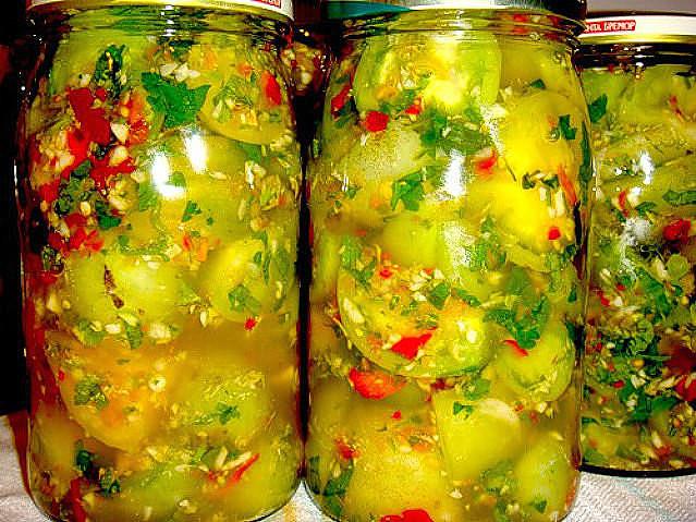 Как мариновать зеленые помидоры на зиму – 6 рецептов с фото