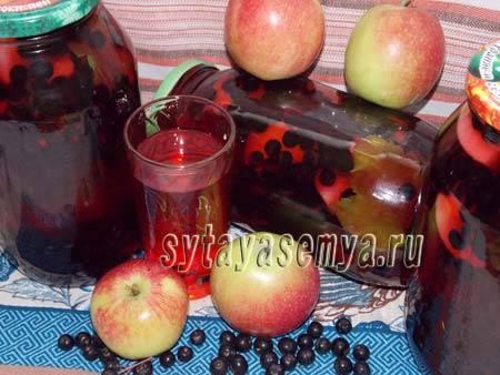Готовим компот на зиму из черноплодки с яблоками