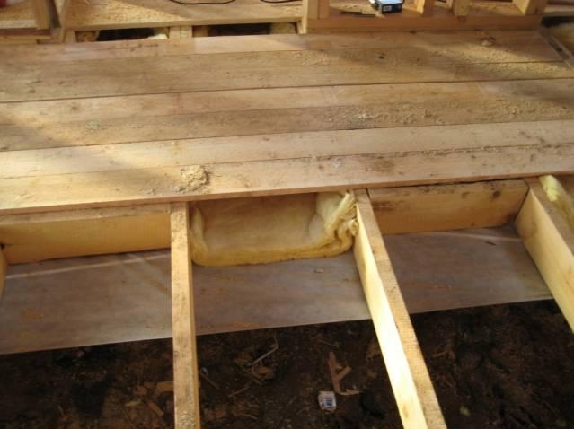 Технология утепления пола в деревянном доме своими руками
