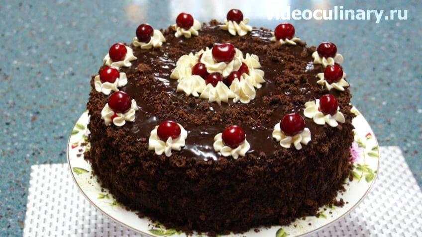 Торт пьяная вишня — лучшие рецепты