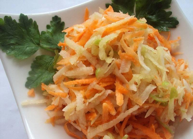 Приготовление салата из топинамбура