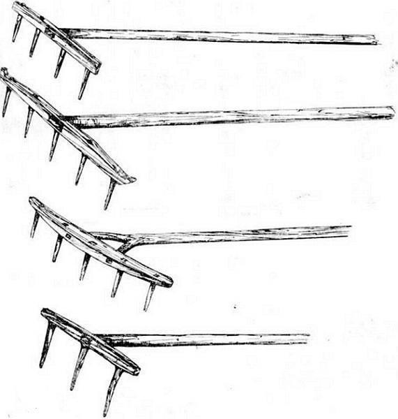 Веерные грабли, изготовленные в Китае