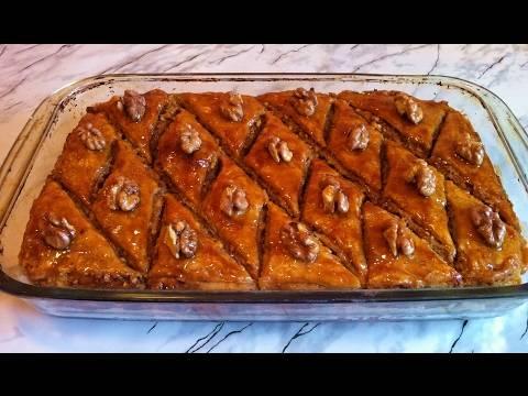 3 рецепта приготовления пахлавы с грецкими орехами и с медом