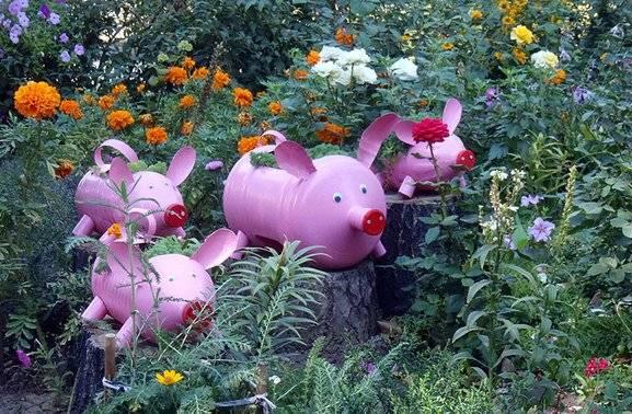 Оригинальные идеи по созданию красивых украшений для вашего сада и огорода (фото)
