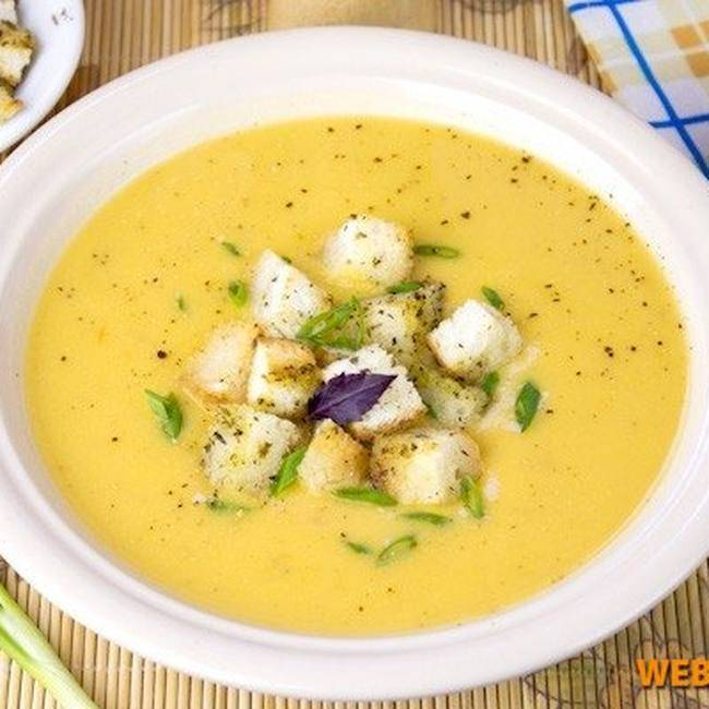 Грибной суп пюре из шампиньонов со сливками