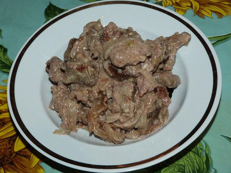 Печень тушеная - 90 домашних вкусных рецептов приготовления