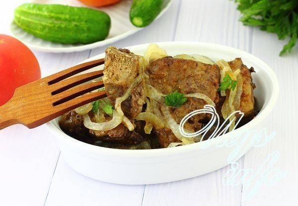 Пошаговый рецепт приготовления жареной говяжей печени с луком