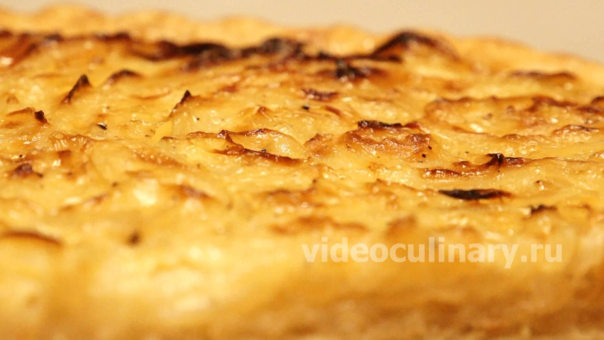 Луковый пирог. рецепты классические французского, заливного, с сыром