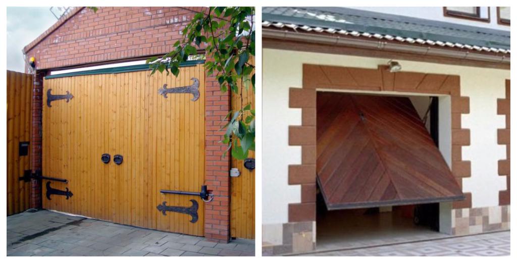 Как сделать деревянные распашные ворота для гаража своими руками? установка и чертежи