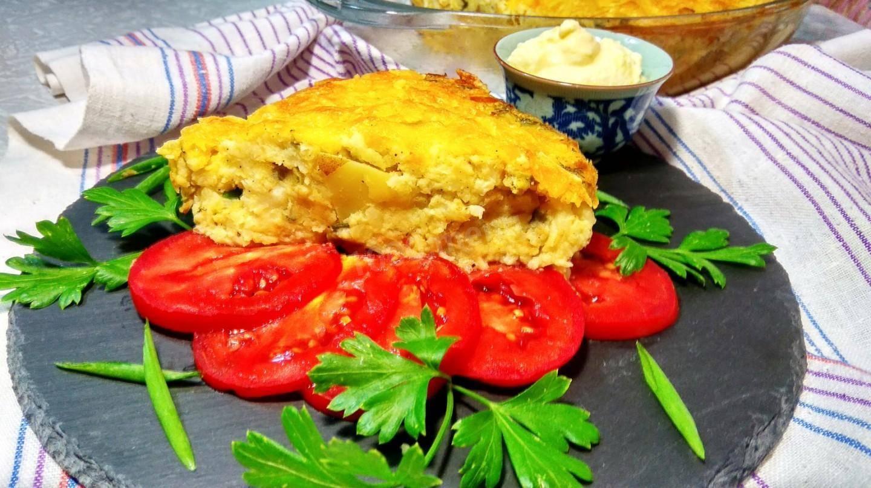 Запеканка из цветной капусты с сыром и творогом