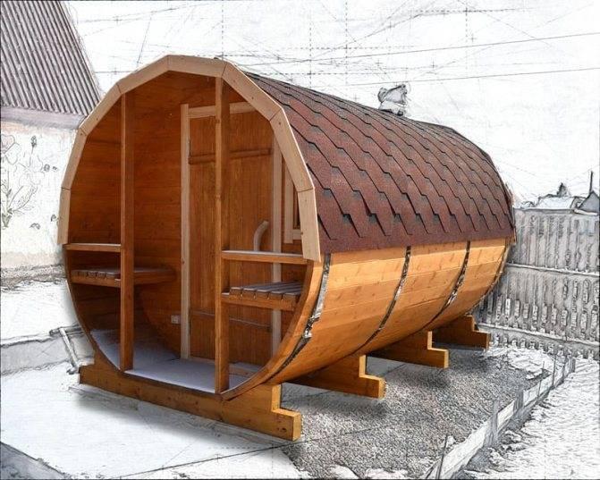 Баня-бочка: особенности и преимущества. инструкция по строительству бани-бочки своими руками