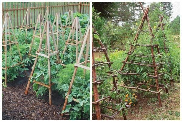 Надежная опора для лиан – садовая шпалера своими руками