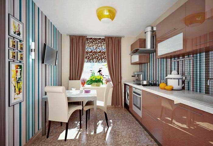 Как выбрать обои под цвет кухонного гарнитура: правила выбора и цветовые сочетания