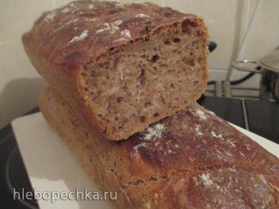 Ржаной хлеб классический в хлебопечке на закваске
