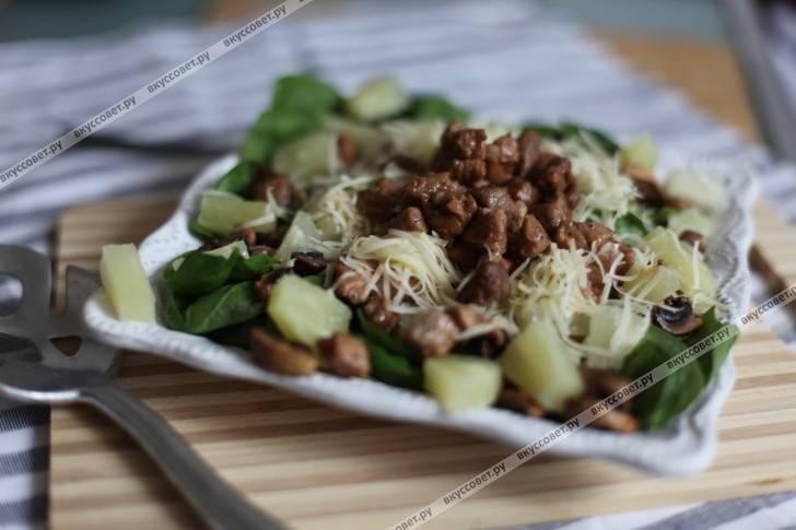 Салат с ветчиной и грибами по самым популярным рецептам