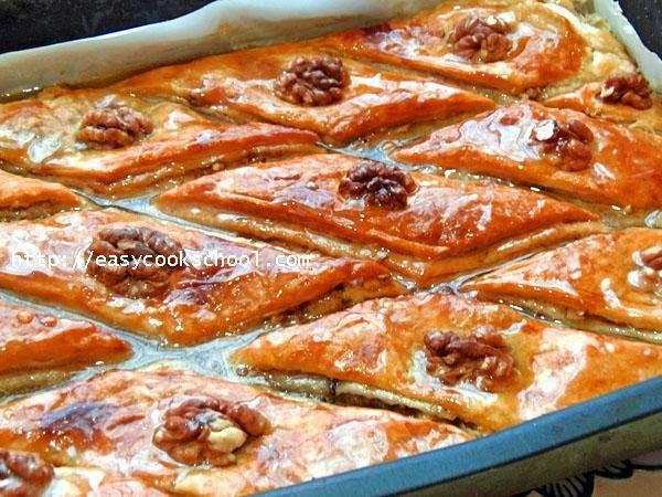 Пошаговый рецепт приготовления медовой пахлавы, а также фото десерта