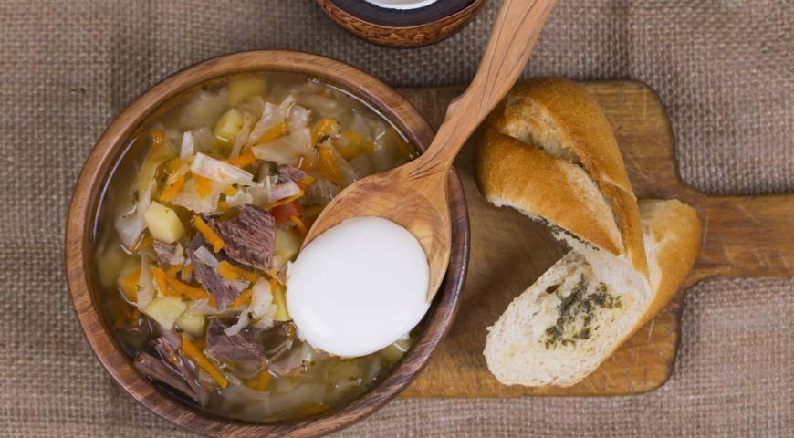 Суп из свежей капусты с мясом