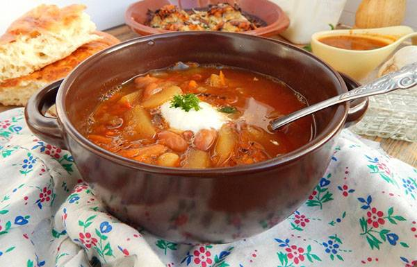 Фасолевый суп: рецепт из красной фасоли