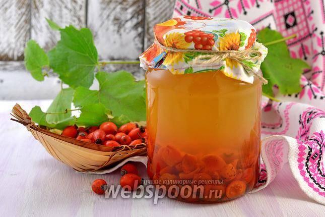Напиток из шиповника и яблок