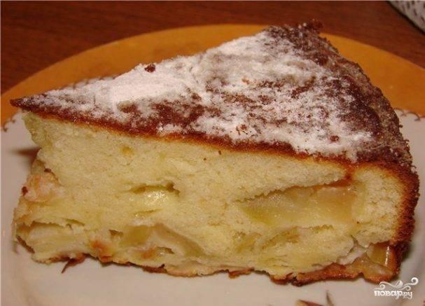 Пышная шарлотка с яблоками на кефире в духовке – 6 простых и вкусных рецептов
