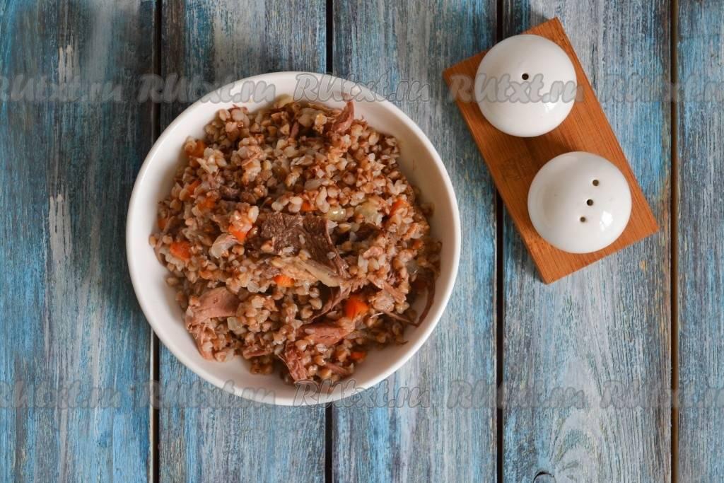 Пошаговый рецепт приготовления гречки с тушенкой с фото