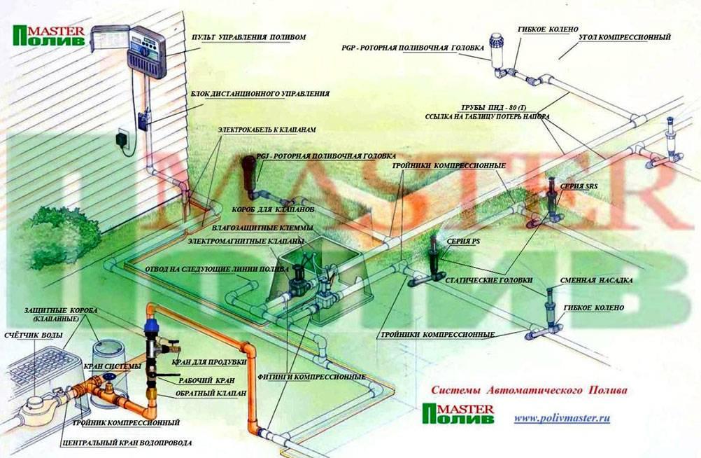 Посоветуйте схему для автополива газона, как организовать полив газона