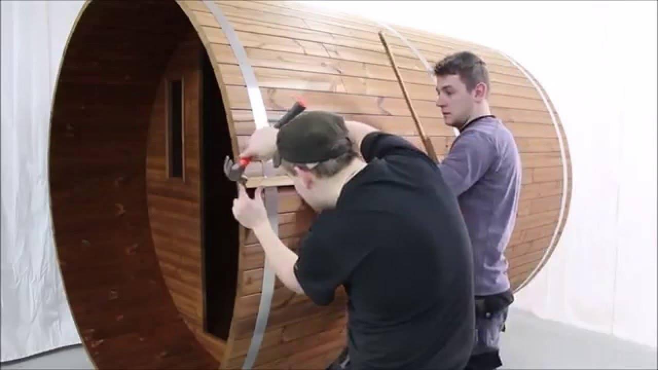 Видео: как сделать баню-бочку