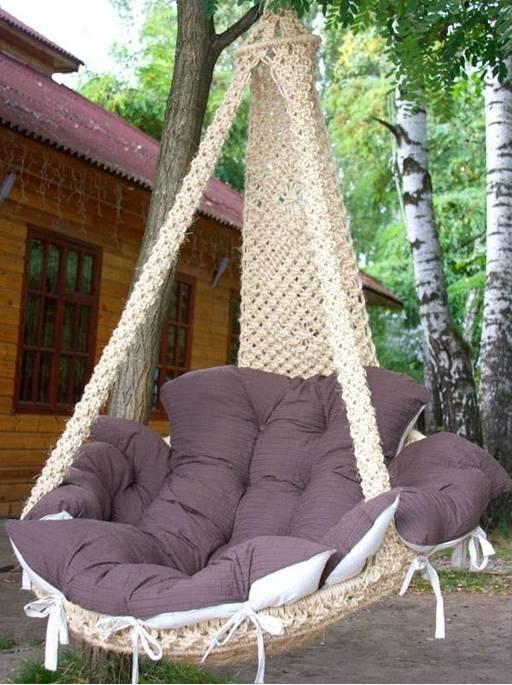 Разные подвесные кресла для дома или дачи — делаем своими руками