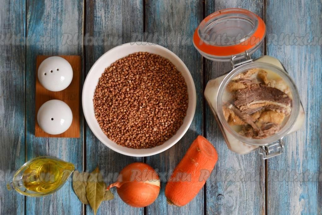 Как приготовить рассыпчатую гречку с тушенкой. рецепт: гречка с тушенкой. как варить гречку с тушенкой и луком в кастрюле: рецепт