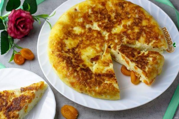 Творожно-рисовая запеканка с яблоками