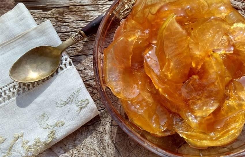 Варенье из яблок дольками янтарное, в собственном соку, в сиропе