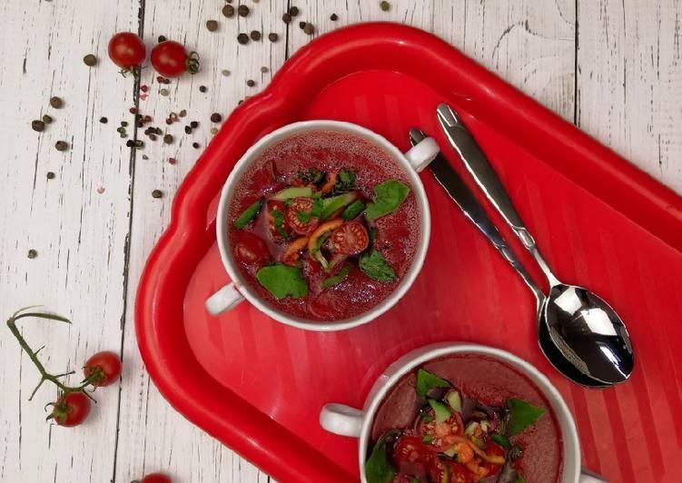 Легкий летний суп гаспачо из испании