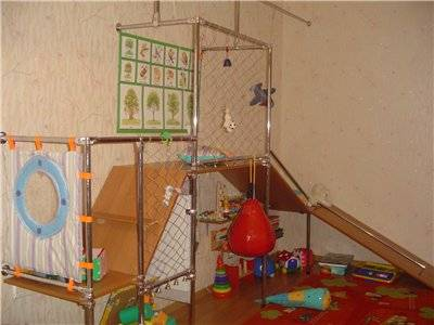 Спортивный уголок для детей в квартиру: варианты комплектации, инструкция монтажа своими руками